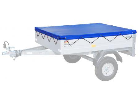 Stema Flachplane blau für PKW Anhänger Mini 350