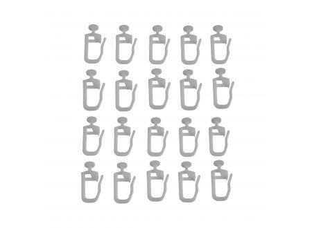 Liedeco Gleiter Universal mit Faltenlegehaken Gardinenschiene bei handwerker-versand.de günstig kaufen