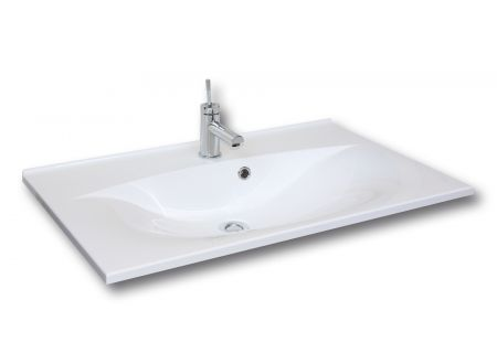 FACKELMANN Gussbecken 80x15x50 weiß, wellenförmig bei handwerker-versand.de günstig kaufen