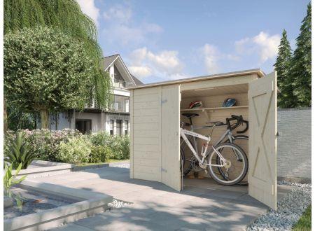 fahrrad und m lltonnenbox natur kaufen. Black Bedroom Furniture Sets. Home Design Ideas