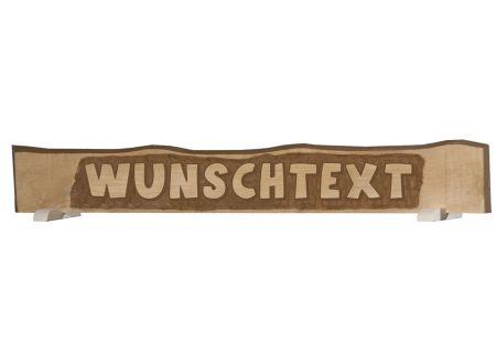 handgeschnitztes Massivholzschild mit individuellem Text bis zu1 bei handwerker-versand.de günstig kaufen