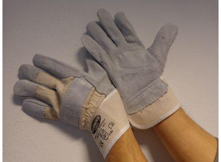 Stronghand Handschuh Rind-Kernspaltleder grau-weiß bei handwerker-versand.de günstig kaufen