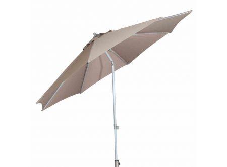 Siena Garden Alu-Push Pro Mittelstockschirm silber/taupe Ø 300cm bei handwerker-versand.de günstig kaufen