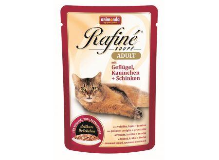 Animonda Cat Rafiné Soupé Adult Pouch mit Geflügel, Kaninchen un