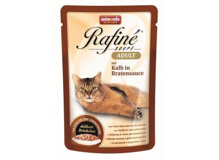Animonda Cat Rafiné Soupé Adult Pouch mit Kalb in Bratensauce 10