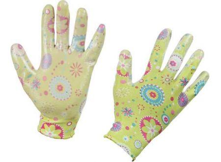 Gartenhandschuh Design farblich sortiert Gr 8