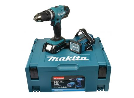 makita akku schlagbohrschrauber 18v 1 5ah lampe dhp453rylj kaufen. Black Bedroom Furniture Sets. Home Design Ideas