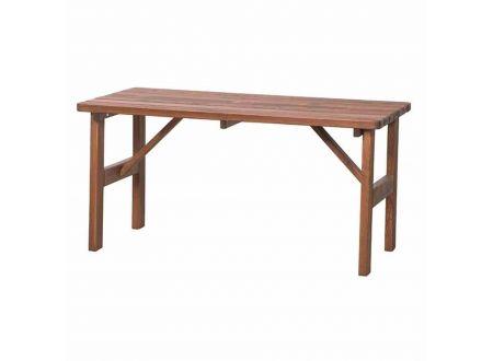 Tessin Tisch eckig, 150x72 cm, braun