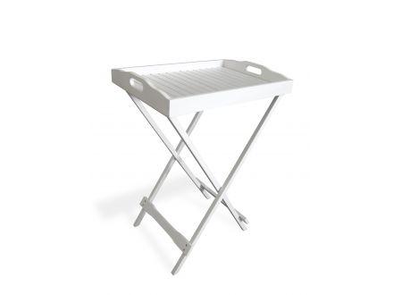 Landmann Tablett mit Untergestell weiß lasiert bei handwerker-versand.de günstig kaufen