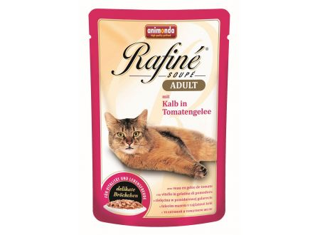 Animonda Cat Rafiné Soupé Adult Pouch mit Kalb in Tomatengelee 1
