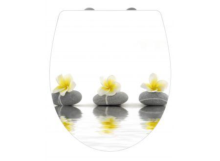Wenko WC-Sitz Stones w.Flowers Duropl.Acryl