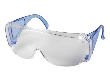 KWB Schutzbrille mit blauem Bügel bei handwerker-versand.de günstig kaufen