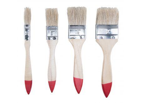 Flachpinselset 4tlg 1/2  - 2 bei handwerker-versand.de günstig kaufen