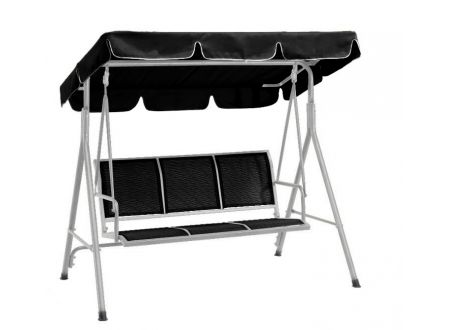 FRG Hollywoodschaukel ACAPULCO 3-sitzer, silber/schwarz bei handwerker-versand.de günstig kaufen