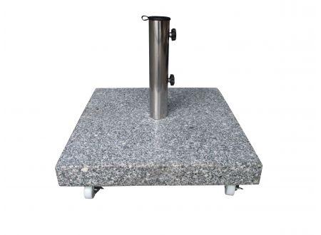 frg schirmst nder 50kg eckig granit hellgrau mit rollen. Black Bedroom Furniture Sets. Home Design Ideas