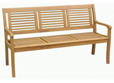 HZL Gartenbank 3-Sitzer Paolo Eukalyptus-Holz