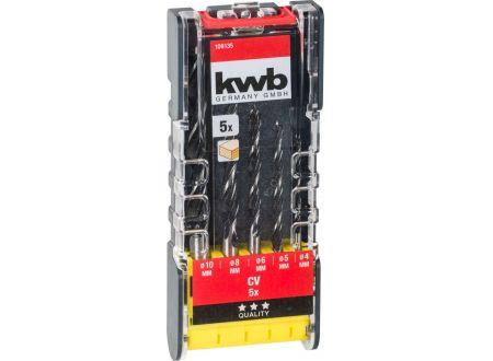 KWB PROMO Holzspiralbohrersatz 5-tlg., 4-10 mm bei handwerker-versand.de günstig kaufen
