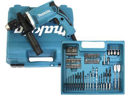 Makita HP1631KX3 Schlagbohrmaschine im Koffer, 710 W inkl. 74tlg. Zubeh bei handwerker-versand.de günstig kaufen