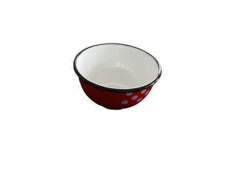 Müslischale rot/weiß 14cm