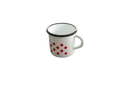 Kaffeepott 200ml weiss-rot bei handwerker-versand.de günstig kaufen