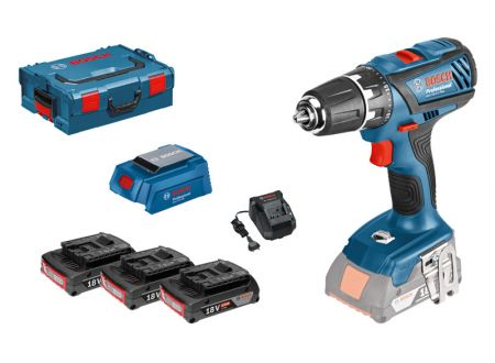 Bosch GSR 18-2-LI Plus + 3 x 2,0 Ah + USB bei handwerker-versand.de günstig kaufen