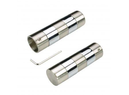 Liedeco Endstück 20 mm Toulouse edelstahl-optik/chrom SB 2 Stk bei handwerker-versand.de günstig kaufen