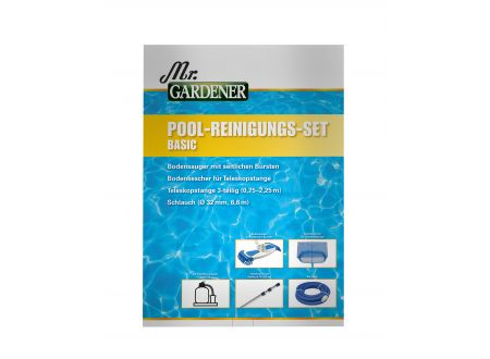 Waterman Basic Pool-Reinigungsset, groß, Mr. Gardener