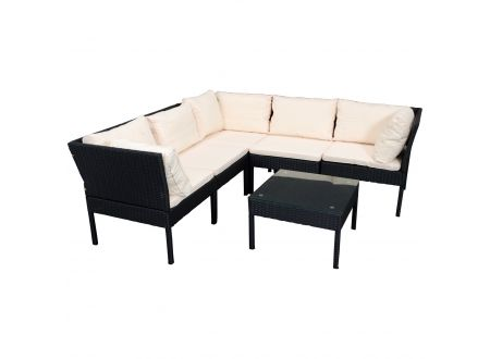 FRG Eck Sitzgruppe, Rattan schwarz kaufen