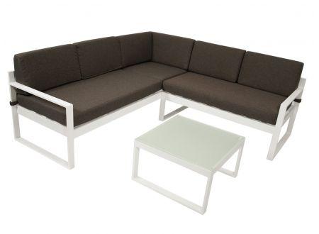 FRG Aluminium Loungeset ARESE, weiß bei handwerker-versand.de günstig kaufen