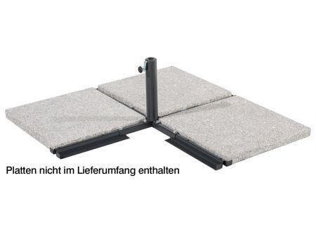 Schneider Schirme Platten-Ständer, ohne Wegeplatten für 50 mm Rohr
