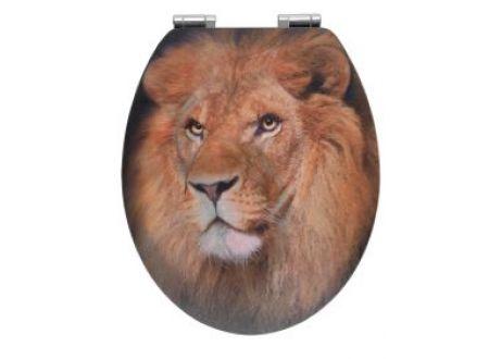 Wenko WC-Sitz Lion, MDF 3D