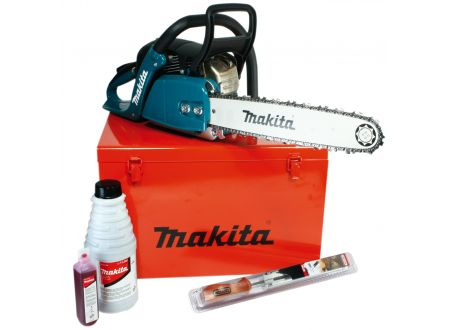 Makita Benzin-Kettensäge 38 cm + Zubehör im Koffer bei handwerker-versand.de günstig kaufen