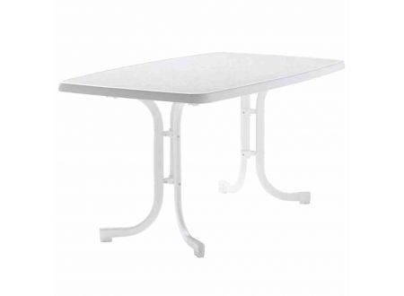Sieger Gartentisch oval 150x90 cm, weiß