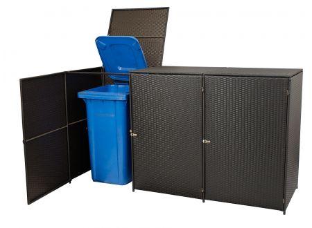 FRG Mülltonnenbox 3-er groß