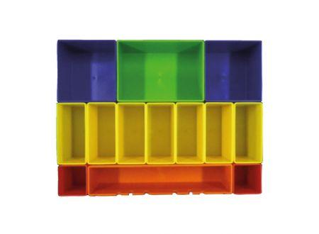 Boxeneinsatz m.farb. Boxen