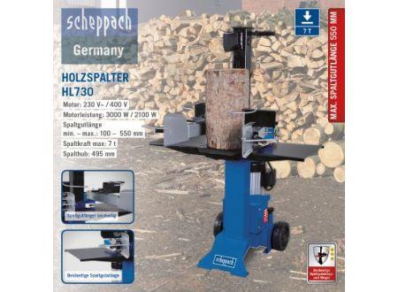 Scheppach Hydraulikspalter HL730 230V/50Hz bei handwerker-versand.de günstig kaufen