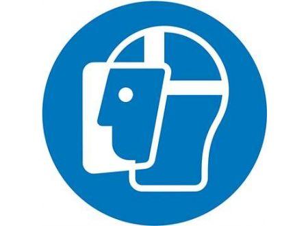 EDE Gebotsschild Fol Gesichtschutz D200mm bei handwerker-versand.de günstig kaufen