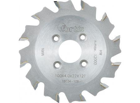 keine Angabe HW-Lamellen-Nutfräser 100x4,0x22 Z12W FORTIS