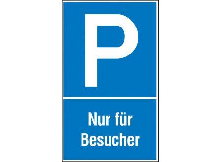EDE Parkplatzs. Nur f. Bes. Aluminium geprägt