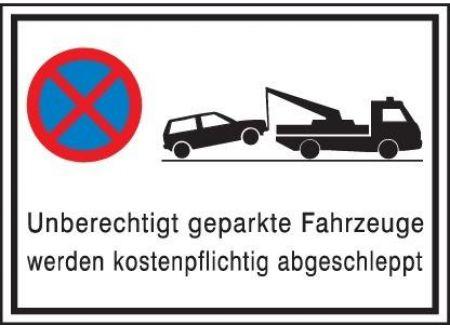 EDE Parkverbotschild Alu 600X400 mm, Abschl