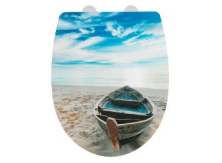 Wenko WC-Sitz Boat Thermoplast high gloss