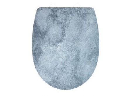 Wenko WC-Sitz Cement Thermoplast embossed