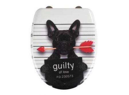 Wenko WC-Sitz Guilty Dog Easy Close Duroplast