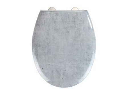 Wenko WC-Sitz Mod. Concrete Easy Close Duroplast