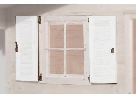 Weka Fensterladen 2-seitig weiss für Fenster 69x79 cm