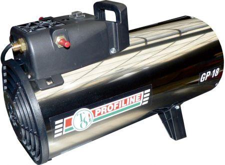 Gas-Heizgebläse 11-18kW regelbar Edelstahl