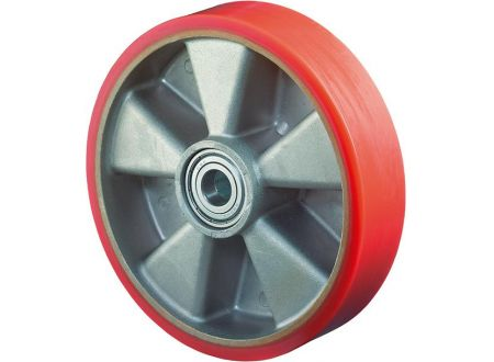 EDE Rad 250/50mm B90.251 Polyure Guss,Radk.Alu,KL Tragkraft 1.000 Kg