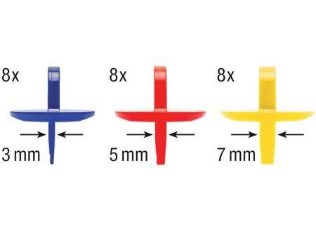 EDE HECO-Abstandhalter 3-5-7mm a 24 Stück