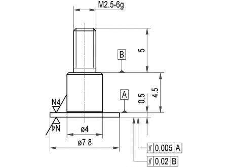 keine Angabe Messeinsatz Stahl Teller 7,8x0,5mm KÄFER