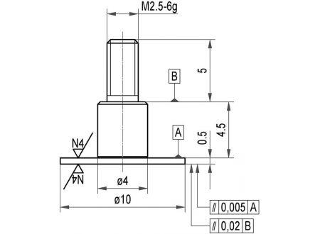 keine Angabe Messeinsatz Stahl Teller 10x0,5mm KÄFER